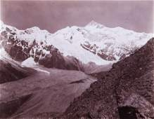 HIMALAYAS Kabru & Glacier 1899 spectacular