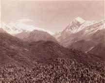 2 HIMALAYAS Pandim & Kanchenjunga, Bridge 1899