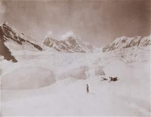 MT ST. ELIAS ALASKA from Newton Glacier 1897