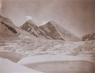 2 VIEWS MT. ST. ELIAS & Mt. Logan Alaska 1897