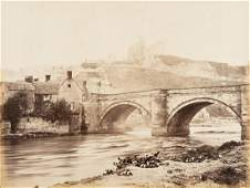 ROGER FENTON Castle and Bridge Yorkshire 1858