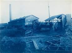 2 Cyanotypes Building PARIS METRO 1900