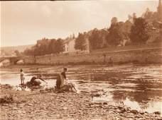 LEONARD MISONNE Washing Clothes Carbon Print 1925