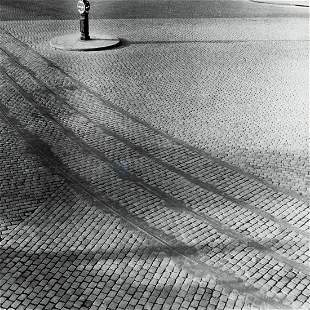MODERNIST VIEW Brick Road Lines & Shadow 1940s