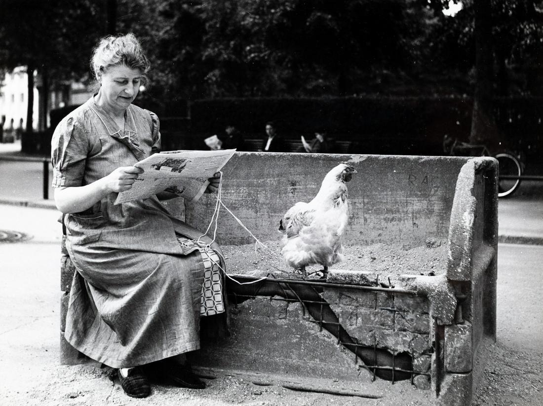 ROBERT DOISNEAU Taking Chicken to the Park 1944