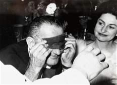 LBJ & Lady Bird Surrealist party 1968