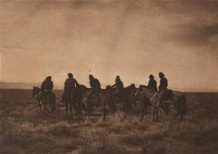 EDWARD CURTIS Twilight Riders Desert NAVAJO 1904