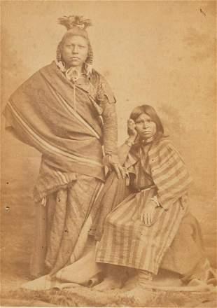 CHARLES CARTER Native American Couple CDV 1860s