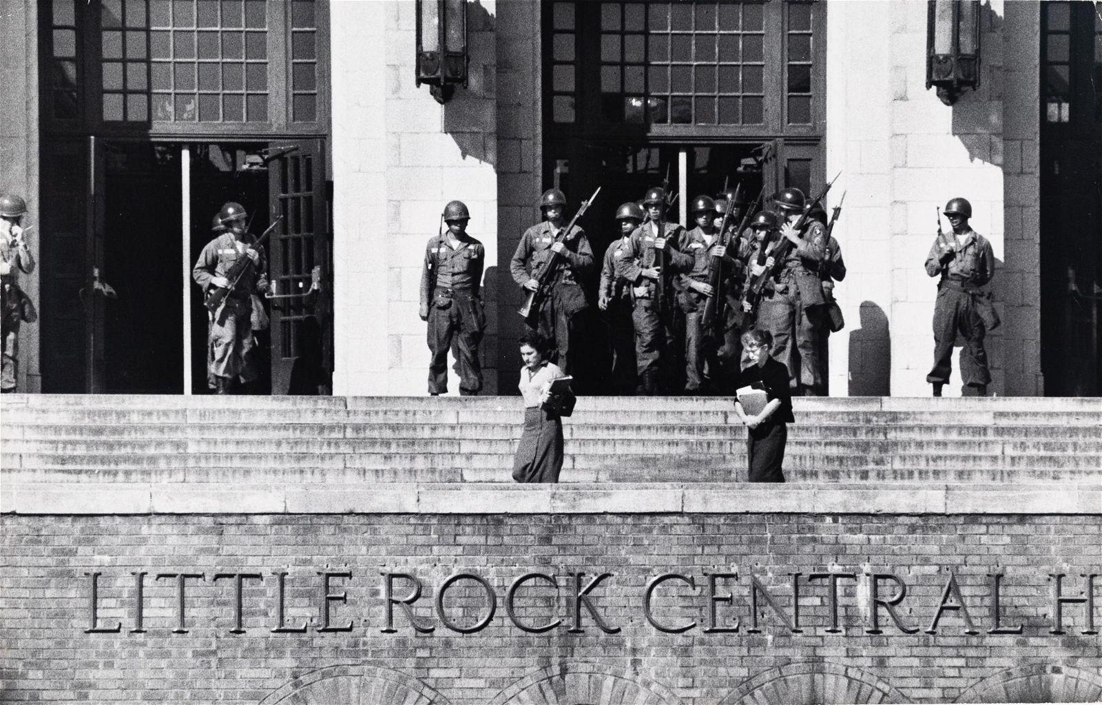 BURT GLINN Civil Rights Little Rock High 1957