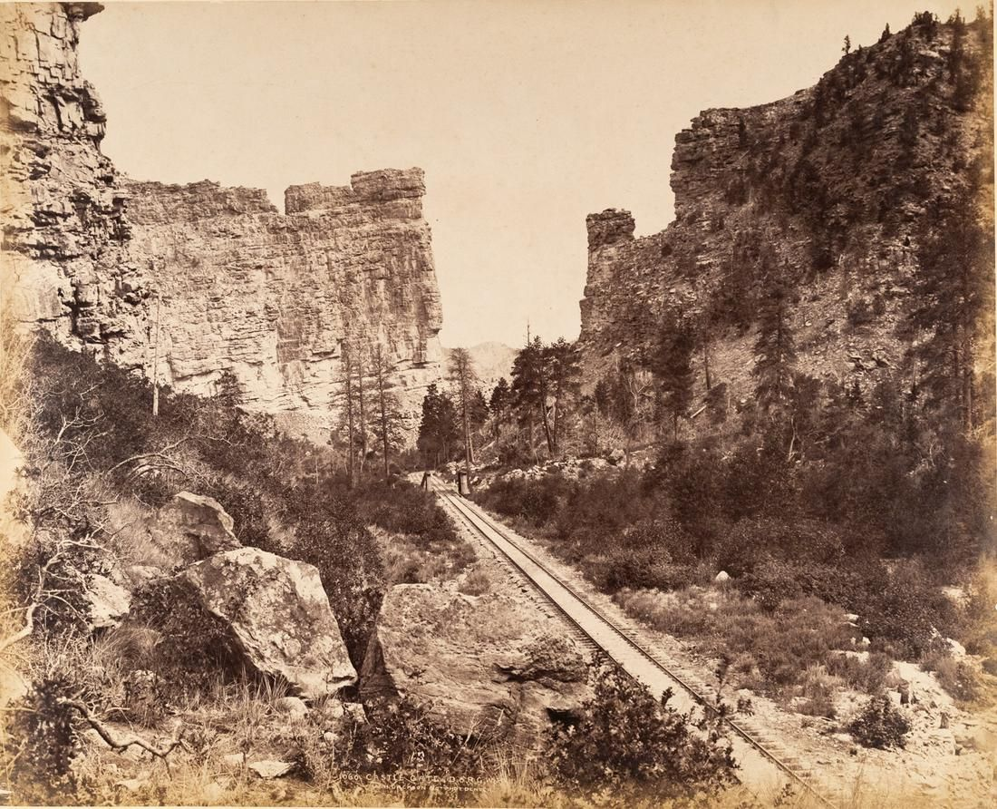 W H JACKSON Castle Gate Utah Mammoth Albumen 1882