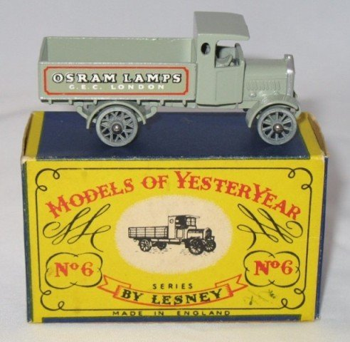 8: Matchbox Yesteryear Y6-1 AEC Y type Lorry - Issue 3