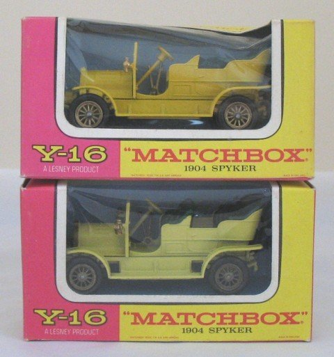 19: 2 x Matchbox Yesteryear Y-16 Spyker, Issues 3 & 15