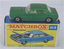 414: Matchbox Superfast 53a Ford Zodiac MKIV rare F BOX