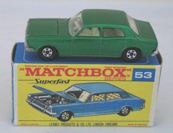 Matchbox Superfast 53a Ford Zodiac MKIV rare F BOX