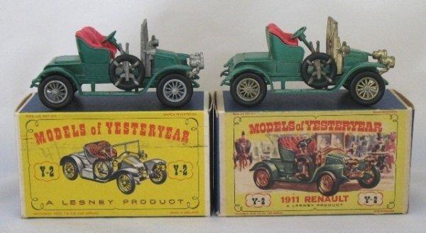 3: 2x Matchbox Yesteryear Y2-2 1911 Renault