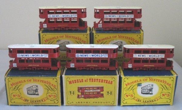 4: 5x Matchbox Yesteryear Y3-1 1907 'E' Class Tramcar