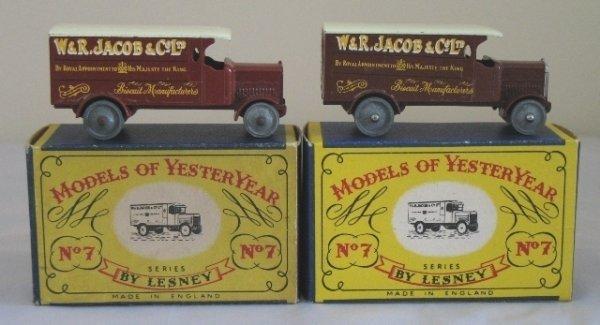 8: 2x Matchbox Yesteryear Y7-1 4 Ton Leyland Lorry