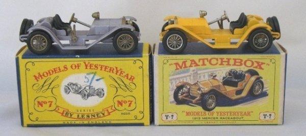 9: 2x Matchbox Yesteryear Y7-2 1913 Mercer