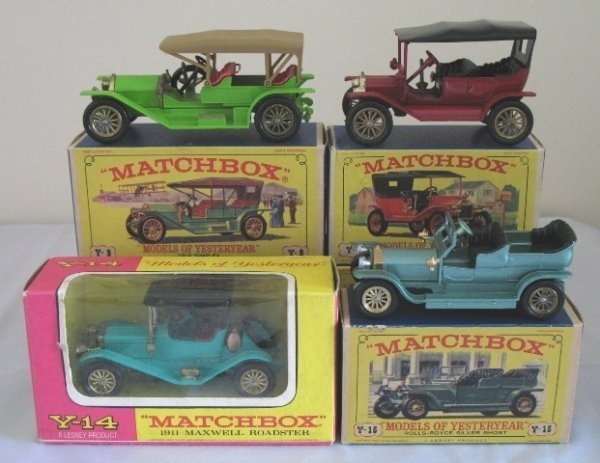 16: 4x Matchbox Yesteryear Cars