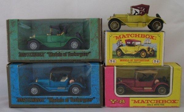 18: 4x Matchbox Yesteryear 2x Y6 Cadillac  2x Y8 Stutz