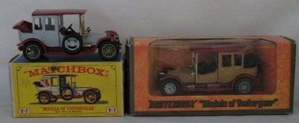 19: 2x Matchbox Yesteryear Y7-3 1912 Rolls Royce