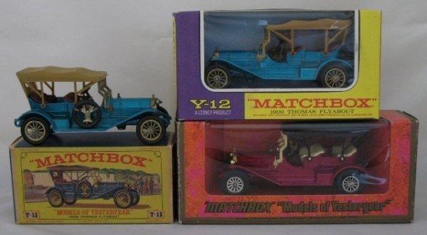 21: 3x Matchbox Yesteryear Y12-2 1909 Thomas Flyabout