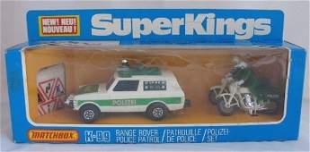 73: Matchbox Superkings K-99 Range Rover Polizei Set.