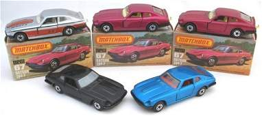 381: 5x Matchbox Superfast 67b Datsun 260Z