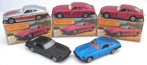 381: 5x Matchbox Superfast 67b Datsun 260Z