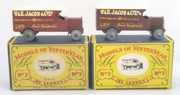 3: 2x Matchbox Yesteryear Y7-1 4 Ton Leyland Lorry