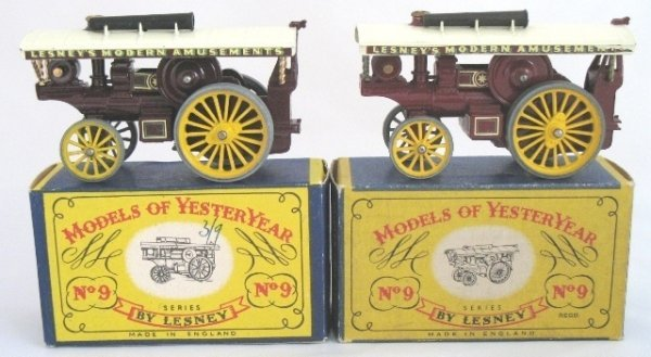 4: 2x Matchbox Yesteryear Y9-1 Showmans Engine