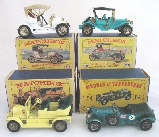 12: 4x Matchbox Yesteryear Cars A