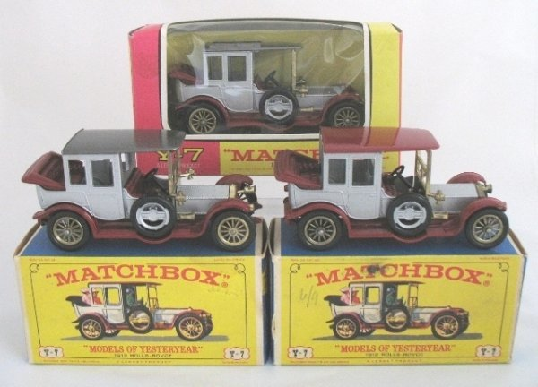 14: 3x Matchbox Yesteryear Y7-3 Rolls Royce