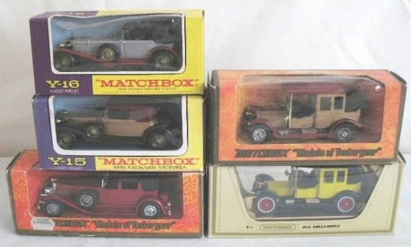 17: 5x Matchbox Yesteryear Cars