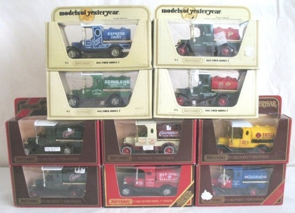 18: 10x Matchbox Yesteryear Y3-4 Model 'T' Tanker