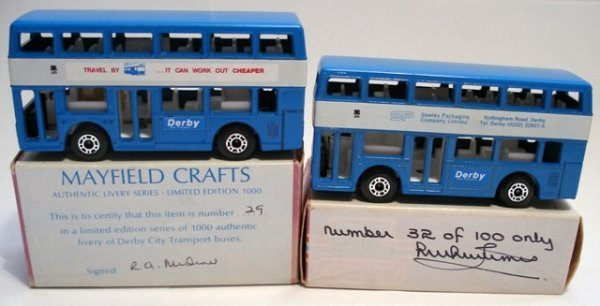 223: 2x Matchbox Superfast London Bus LIMITED EDITIONS