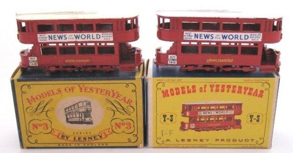 3: 2x Matchbox Yesteryear Y3-1 Tramcar