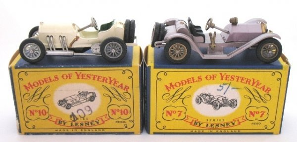 5: 2x Matchbox Yesteryear Y7-1 Mercer Y10-1 GP Mercedes