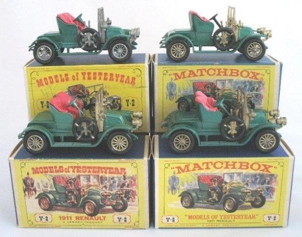 7: 4x Matchbox Yesteryear Y2-2 1911 Renault