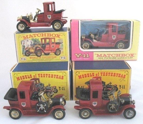 8: 4x Matchbox Yesteryear Y11-2 Packard Landaulet