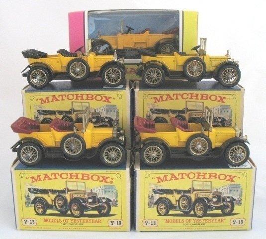 9: 5x Matchbox Yesteryear Y13-2  Daimler