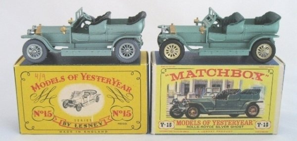 11: 2x Matchbox Yesteryear Y15-1 Rolls Royce Sil Ghost