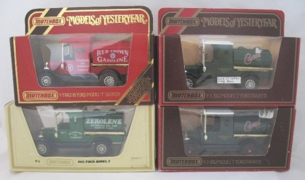 12: 4x Matchbox Yesteryear Y3-4 Model 'T' Tanker