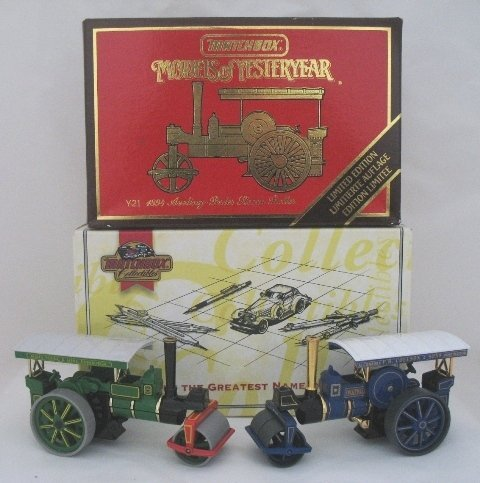 14: 2x Matchbox Yesteryear Aveling Porter Steam Rollers