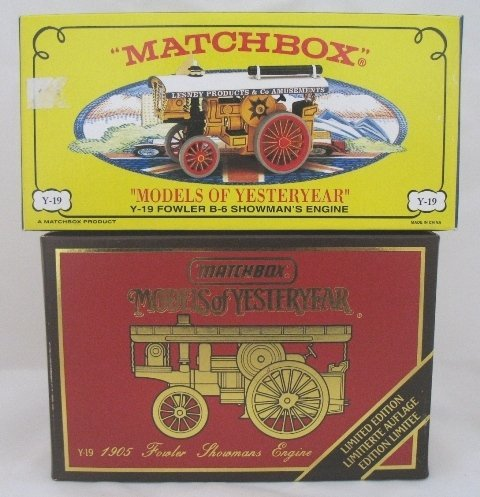 15: 2x Matchbox Yesteryear Fowler Showman Engine