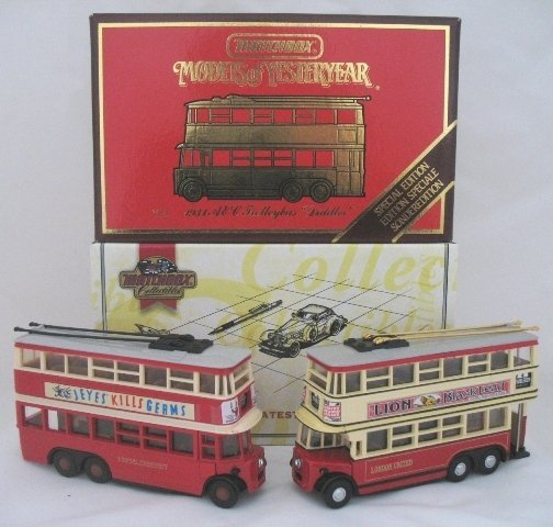 17: 2x Matchbox Yesteryear Y10-4 Diddler Trolley Bus