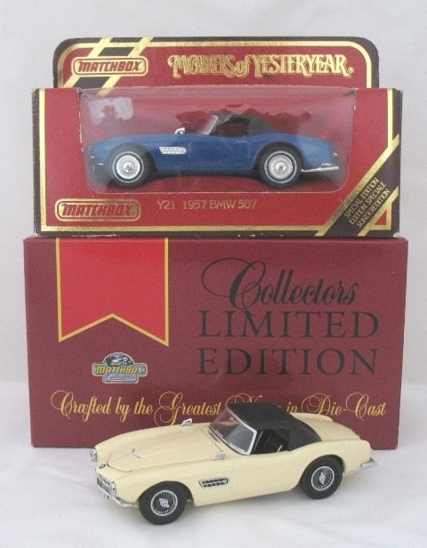 18: 2x Matchbox Yesteryear Y21-1 BMW 507