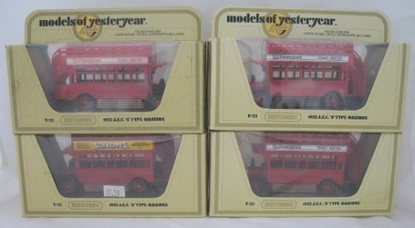 19: 4x Matchbox Yesteryear Y23-1 AEC Bus