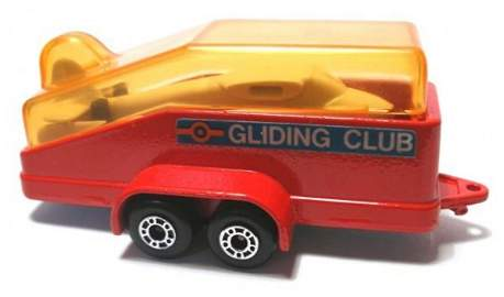 487: Matchbox Superfast MB794 Gliding Trailer RED BODY