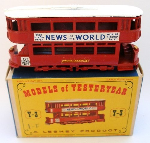 2: Matchbox Yesteryear Y3-1 Tramcar BLACK WHEELS